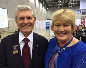 Rick King with District 6400 Governor Sue Goldsen
