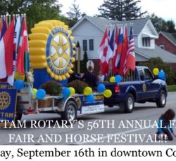 Cottam 56th annaul Fall Fair and Horse Festival