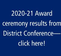 Award Recipients from the 2021 District Conference